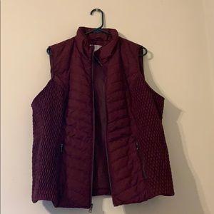 Women's Fall Burgundy Vest